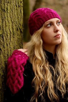 7a8046d0ec6 Cogges Armwarmers and matching hat pattern by Jeni Hewlett featured in  Scrumptious Collection Volume 1.