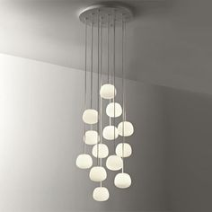 Lumi - Mochi Pendant Light by Valerio Sommella from Fabbian Suspension Lighting Hanging Lamp for Restaurant Dining Room Contemporary Stairs, Contemporary Cottage, Contemporary Wallpaper, Contemporary Chandelier, Contemporary Bathrooms, Contemporary Interior, Chandeliers Modern, Contemporary Building, Contemporary Apartment