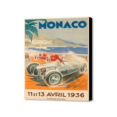 "Monaco 13 Avril 1936 (16""W x 20""H x 1.5""D)"