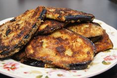 Melanzane fritte - Stekta aubergineskivor Typiskt sicilianskt recept