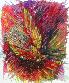 """The Bird""1 Watercolour with Pen&Ink By Irfan Khan  For buying  Email: mirkha12@yahoo.com"