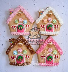 """Sugar Cookies~Decorated~As GingerBread"". These would be for me since I don't really care for GingerBread"". Christmas Sugar Cookies, Christmas Sweets, Christmas Cooking, Noel Christmas, Holiday Cookies, Gingerbread Cookies, Christmas Cakes, Christmas Decorations, Fancy Cookies"