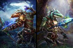 Affichage de lizard_warriors_by_robekka-d5v9bzj.jpg