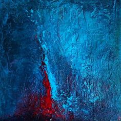 BLUE, acrylic on canvas, abstract art by Eva Tikova Abstract Art, Canvas, Artwork, Blue, Painting, Tela, Work Of Art, Auguste Rodin Artwork, Painting Art
