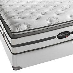 Simmons Beautyrest Cottage Plush Firm Pillow Top Mattress Set -King at HSN.com.
