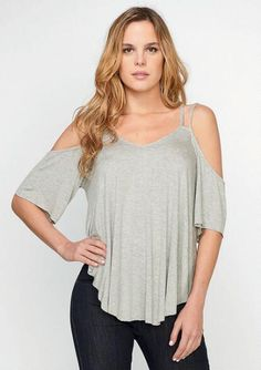 Emmy Cold-Shoulder Top - Tops - Clothing - Alloy Apparel