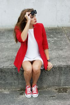 20 Outfits That'll Make You Want Colored Converse Sneakers | StyleCaster