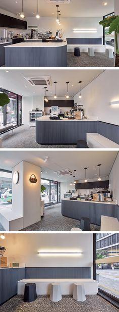 [No.274 헤비커피드링커] 서초 7평 모던 카페 인테리어, white modern cafe interior, pastel color design