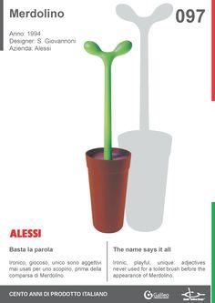 Merdolino by Stefano Giovannoni for Alessi (1994) #toilet #bathroom #accessory #humour