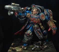 Crimson fists 1st company captain - Sculpted & painted by Kirill Kanaev - Full scratchbuild model that was 3 years in progress and won overall on Crystal brush 2015 in Chicago.