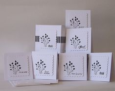 Classic Clean Black/White Occasion Mini Cards  by Durhamhouse, $7.00