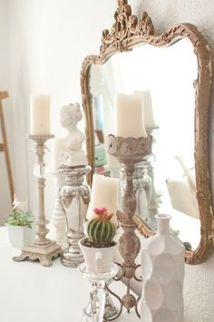 Domestic Fashionista: Almost White Dining Room