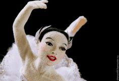 Купить Белая Лебедь. Валяная кукла - белый, балерина, балет, Лебединое озеро, лебедь, танец