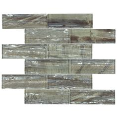 Shop Elida Ceramica IMPERIAL CITY Brown Glass Mosaic Subway Thinset Mortar Wall Tile (Common: 12-in x 12-in; Actual: 11.75-in x 11.75-in) at Lowes.com