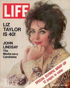 Elizabeth Taylor Liz Is 40 Howard Hughes Olympics 1972 Life Magazine Life Magazine, Movie Magazine, Magazine Rack, Elizabeth Taylor, Queen Elizabeth, Cole Porter, John Lindsay, Howard Hughes, Life Cover