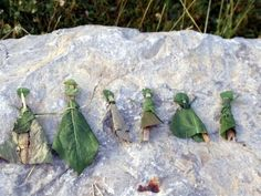 Leaf dolls.I love it when kids are creative.