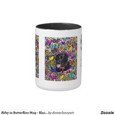 Abby in Butterflies Mug - Black Labrador #sold #DianeClancy