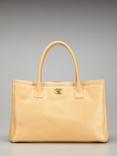 Chanel Beige Caviar Leather Cerf Tote Bag.. NEED FOR SPRING/SUMMER.