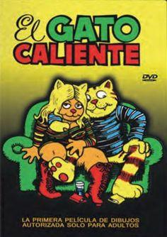 DVD ANIM 144 - El gato caliente (1972) EEUU. Dir.: Ralph Bakshi. Drogas. Sinopse: Fritz é un gato universitario que desexa explotar a vida ao máximo, pois o encerrarse en casa a estudar non lle satisfai. Así, comezará unha procura de aventuras que lle leva polo sexo, as drogas, os barrios baixos cheos de minorías oprimidas e os revolucionarios dos anos 60.
