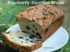 Blueberry Zucchini Bread #Blueberries, #Cooking, #ZucchiniBread #HomestyleCooking
