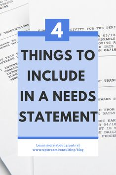 How to write a needs statement : The needs statement of your grant proposal should compel someone to take action (i., give you grant money! Click through to learn more about the 4 things to include in your needs statement. Grant Proposal Writing, Grant Writing, Business Grants, Business Baby, Writing A Business Plan, Business Planning, Disability Grants, Grant Money, Non Profit
