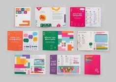 Hello Ruby: Visualising a celebration of computing by creative agency Kokoro & Moi Booklet Design, Book Design Layout, Design Layouts, Mise En Page Portfolio, Prospectus, Design Editorial, Buch Design, Web Design, Nail Design