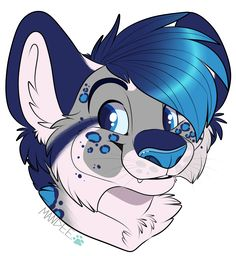 Extra Art  a Happy Headshot from my Snow Leopard/Red Panda - Zane  made by (c)Mandee Character by (c)me