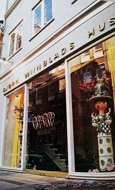 """""""Bjørn Wiinblads Hus"""" Store in Ny Østergade 11 in Copenhagen (1970's)"""