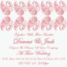 Coral wedding invitation by Ananyacards.com #coral