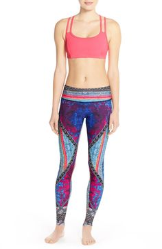 Crushing on the artful graphic design patterns that decorate these fun and colorful workout leggings designed to stand out at the gym, in the studio or on the go.