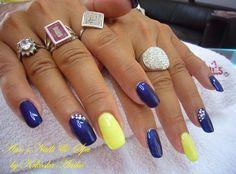 Deep blue  gel nails
