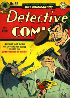 """While not a """"football cover"""", it is one of the most famous (and valuable) Golden Age comics."""
