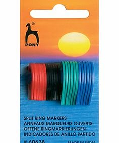 Pony Split Ring Stitch Markers These split ring stitch markers are a must-have knitting accessory, helping you keep track of where you are on your row. (Barcode EAN=8901003606386) http://www.comparestoreprices.co.uk/hobbies/pony-split-ring-stitch-markers.asp