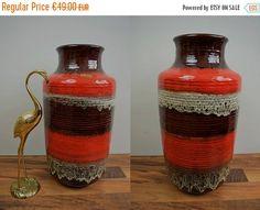 Vintage Bodenvase (Vase) / Carstens Tönnieshof / 7302 40 | West Germany | WGP | 60er von ShabbRockRepublic auf Etsy