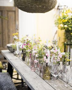 Nordic Gardens table setting with flowers