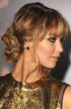 Jennifer Lawrence, The Hunger Games  premiere hair