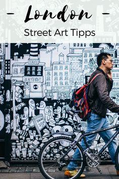 Auf den Spuren von Banksy, ROA und Co.: Die beste Streetart in London. Hier findest du die besten Tipps für Murali und Graffiti in Shoreditch und Camden.