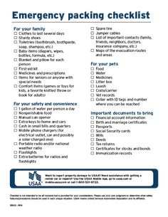 September is National Preparedness Month: If a natural or man-made disaster happened tomorrow and you had to evacuate your home, would you know the appropriate items to bring with you? Make sure you're prepared with this Emergency Packing Checklist. Emergency Preparedness Checklist, Family Emergency Binder, Emergency Preparation, Emergency Supplies, Disaster Preparedness, Survival Prepping, Packing Checklist, Emergency Kits, Survival Gear