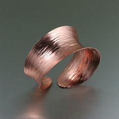 Anticlastic Copper Bark Bangle Bracelet  --- Anticlastic Copper Bangle - Makes a Great 7th Anniversary Gift! - John S Brana Handmade Jewelry