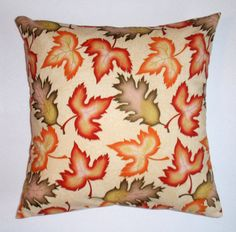 AUTUMN Throw Pillow Cover Autumn-Fall Leaves by PersnicketyHome