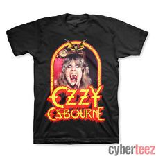 Ozzy Osbourne Speak of the Devil Vintage T-Shirt: This cotton t-shirt from heavy metal legend Ozzy Osbourne features vintage-style artwork from Ozzy's 1982 live album, Speak of the Devil. An awesome design that's perfect for any Ozzy or Black Sabbath fan! Ozzy Osbourne, Vintage T-shirts, Vintage Black, Vintage Music, Vintage Style, Tour T Shirts, Tee Shirts, Shirt Men, Rock Tees