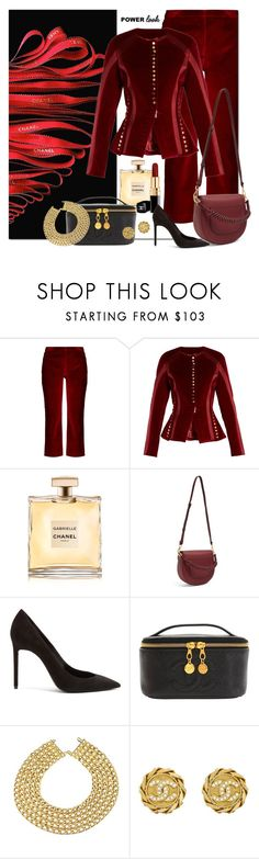 """""""Do Not Fear To Be BOLD"""" by jacque-reid ❤ liked on Polyvore featuring Altuzarra, Chanel and Yves Saint Laurent"""
