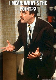 """Basil Fawlty (John Cleese)is the main character of the British sitcom """"Fawlty Towers"""". Top 10 Comedies, British Tv Comedies, Classic Comedies, Comedy Tv, Comedy Show, British Comedy Series, Radios, Fawlty Towers, Michael Palin"""