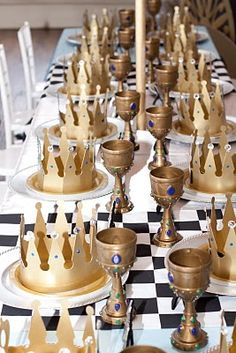 Knight Party Table Setting Idea.