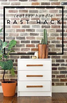 DIY Leather Handle IKEA Rast Hack