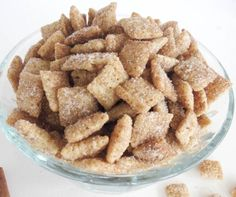 Cinnamon Sugar Chex Mix. The most addicting snack ever! Once you have one. you will not be able to stop. Comes together in less than 10 minutes and tastes amazing!