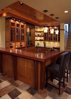 Nice cupboards and ceiling.
