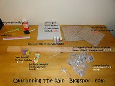 Outrunning The Rain: DIY Race Bib and Medal display (cost about $17.00)