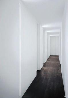 Slot Recessed Wall Light modern wall sconces. Cool White Lumilum LED Strip Lights