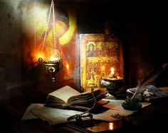 In the spiritual world, thoughts are understood in the same way as words. They are heard. Therefore, work on your soul is more precious than any gift in this world. Elder Thaddeus of Vitovnica Orthodox Prayers, Orthodox Christianity, Catholic Art, Religious Art, Prayer Corner, Mystery, Christian Artwork, Home Altar, Spirituality